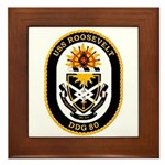 USS Roosevelt DDG-80 Navy Ship Framed Tile