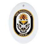 USS Roosevelt DDG-80 Navy Ship Oval Ornament
