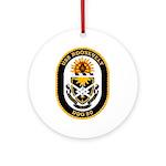 USS Roosevelt DDG-80 Navy Ship Ornament (Round)