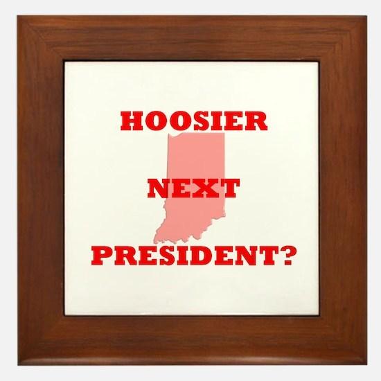 HOOSIER NEXT PRESIDENT Framed Tile
