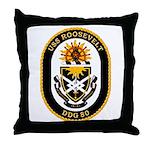 USS Roosevelt DDG-80 Navy Ship Throw Pillow