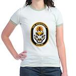 USS Roosevelt DDG-80 Navy Ship Jr. Ringer T-Shirt