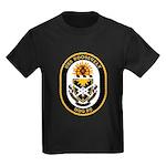 USS Roosevelt DDG-80 Navy Ship Kids Dark T-Shirt
