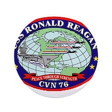 "USS Ronald Regan CVN-76 Navy Ship 3.5"" Button (100"