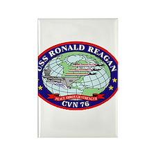 USS Ronald Regan CVN-76 Navy Ship Rectangle Magnet