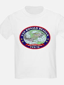 USS Ronald Regan CVN-76 Navy Ship T-Shirt