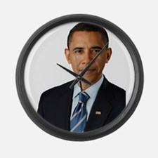 Cute Obama Large Wall Clock