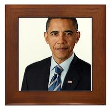 Cute Obama Framed Tile