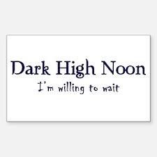 Dark High Noon Rectangle Decal