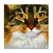 Kitty Close-Up Tile Coaster