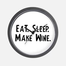 Eat, Sleep, Make Wine Wall Clock