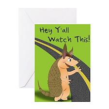 Amadillo Greeting Card