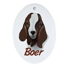 "Boer ""Sasha"" Oval Ornament"
