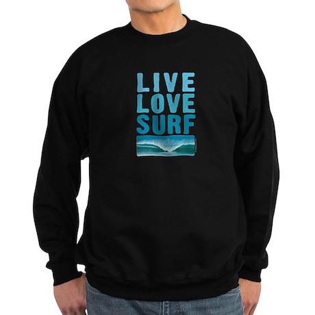 Live, Love, Surf - Sweatshirt (dark)