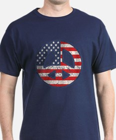 Flag-Peace-dist T-Shirt