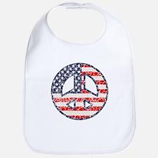 Flag-Peace-dist Bib