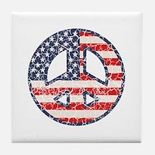 Flag-Peace-dist Tile Coaster