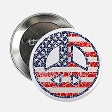 "Flag-Peace-dist 2.25"" Button"