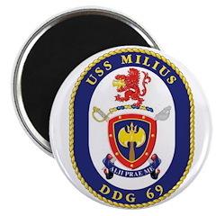 USS Milius DDG-69 Navy Ship Magnet