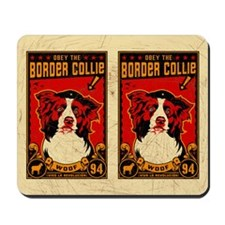 Border COllie Revolution! Vintage Mousepad
