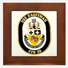 USS Kauffman FFG-59 Navy Ship Framed Tile