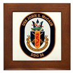 USS John McCain DDG-56 Navy Ship Framed Tile