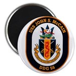 USS John McCain DDG-56 Navy Ship Magnet