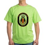 USS John McCain DDG-56 Navy Ship Green T-Shirt