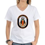 USS John McCain DDG-56 Navy Ship Women's V-Neck T-