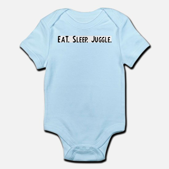 Eat, Sleep, Juggle Infant Creeper