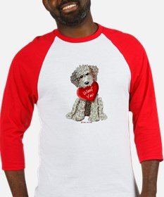 WOOF YOU Doodle Love Baseball Jersey