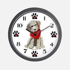 Labradoodle Love, Be Mine Wall Clock