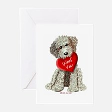 WOOF YOU Doodle Love Greeting Cards (Pk of 10)