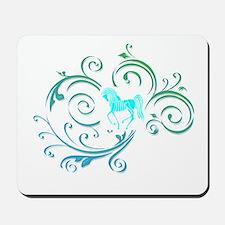 Fancy Blue Celtic Horse Mousepad