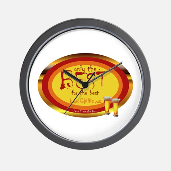 Funny Peace love bbq Wall Clock