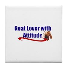 Goat-Boer with Attitude Tile Coaster