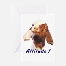 Goat-Boer with Attitude Greeting Cards (Package of
