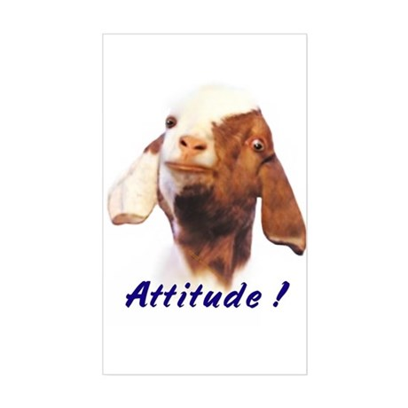 Goat-Boer with Attitude Rectangle Sticker