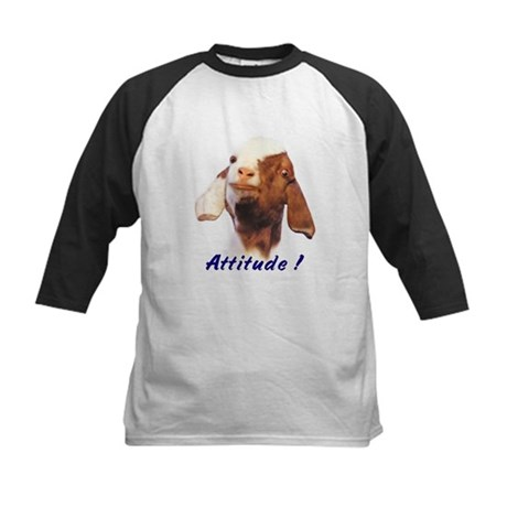 Goat-Boer with Attitude Kids Baseball Jersey