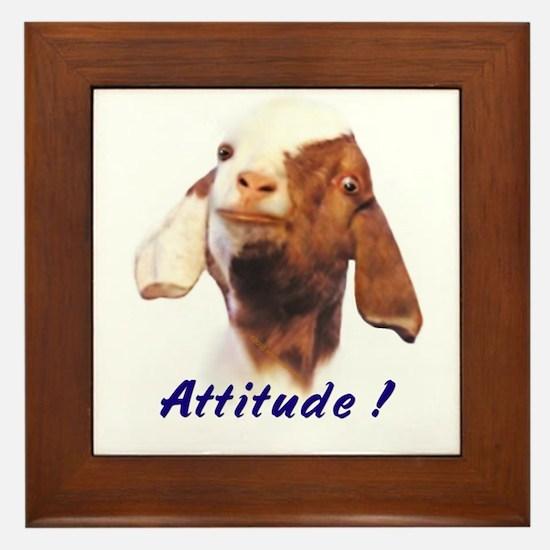 Goat-Boer with Attitude Framed Tile
