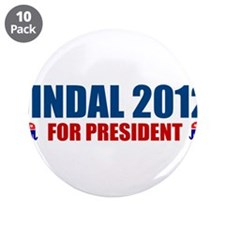 "Unique Bobby jindal 3.5"" Button (10 pack)"