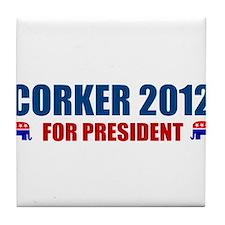 Cute Bob corker Tile Coaster