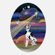 Christmas Star & Great Dane Oval Ornament