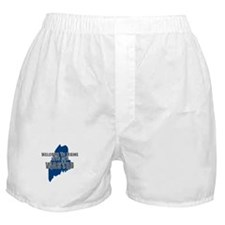 MAINE SHIRT LETS GET WASTED D Boxer Shorts