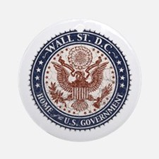 Wall St. D.C. Ornament (Round)