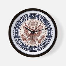 Wall St. D.C. Wall Clock