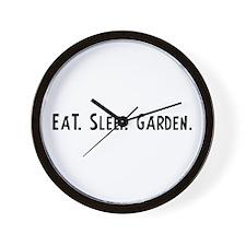 Eat, Sleep, Garden Wall Clock
