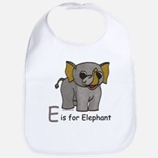 E is for Elephant Bib
