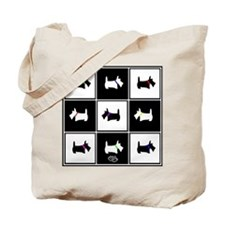 Scottie Tic Tac Toe Tote Bag