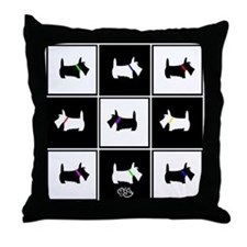 Scottie Tic Tac Toe Throw Pillow